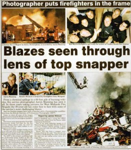 Award Winning Photographer article in Wolverhampton Express and Star