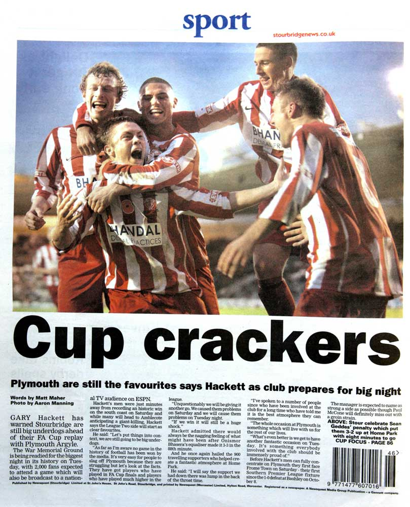 Stourbridge Celebrate FA Cup Draw