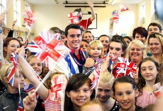 Homecoming of Kristian Thomas Olympic Gymnast
