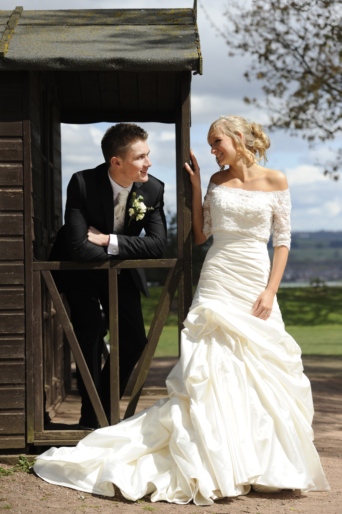James & Natalie wedding photographs Staffordshire