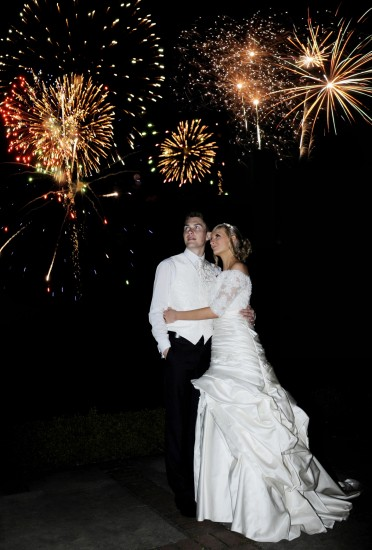 Wedding - James & Natalie - fireworks